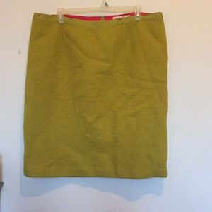 Boden Green Tweed Pencil Skirt 18L 18 Long UK22L